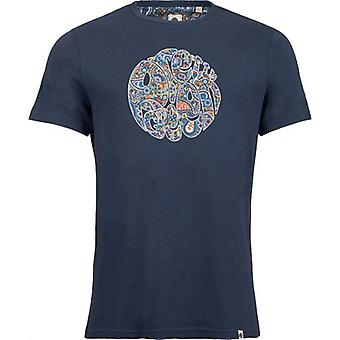 Vacker grön Wonderwall Paisley Logo T-Shirt