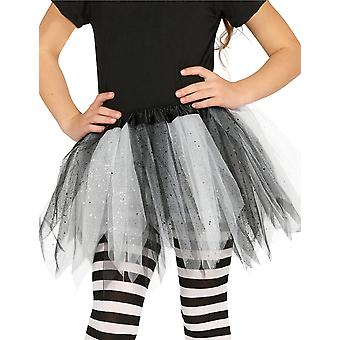 Twee-tone zwart-wit pailletten meisje tutu