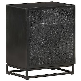 vidaXL Bedside Table Black 40x30x50 cm Acacia and Mango Solid Wood