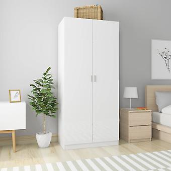 vidaXL armoire haute brillance-blanc 90×52×200 cm panneau de particules