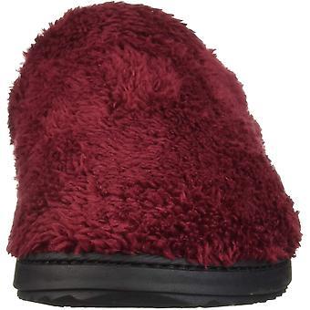 Dearfoams Women's Clog with Woven Trim Slipper Cabernet M Regular US