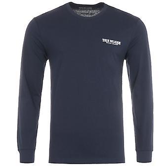 True Religion Logo Long Sleeve T-Shirt - Navy