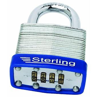 Sterling CPL146 - Lock with 4 digit combination in laminated steel, width 4.6 cm
