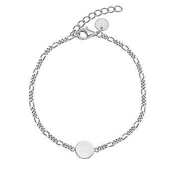 NOELANI - Women's bracelet in silver 925, Figaro chain adjustable in length
