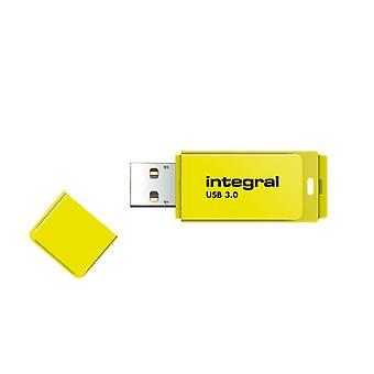 Lecteur flash usb3.0 intégral de 64 Go (Memory Stick) Jaune néon