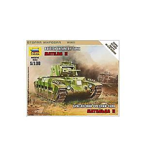 Zvezda   Model Z6171   Armoured Assault Rifle   British Tank Matilda Mk1