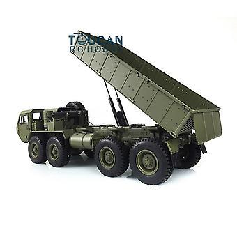 1/12 Rc p803a military dumper truck model 8*8 chassis motor servo 8ch radio car toys for boys th16473-smt6
