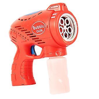Summer Smoke Magic Bubble Machine Electric Automatic Bubble Blower Maker Gun Birthday Gift(Red)