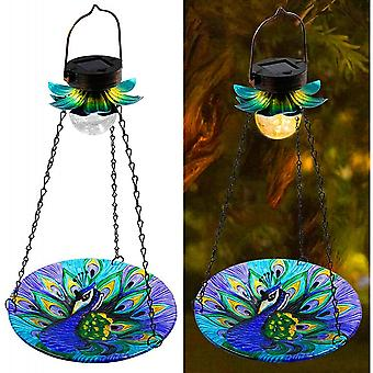Solar Powered Bird Bath For Outside Hanging Wild Bird Feeder