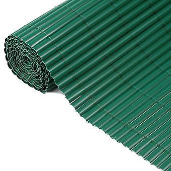 Natur Ensidig trädgård synskydd PVC 1×3 m Grön