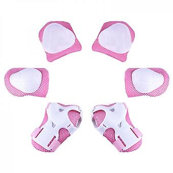 Kids Protective Gear Set Knee Pads For Kids(Pink)