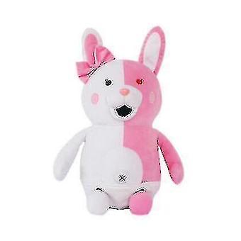 Mustavalkoinen karhunukke, vaaleanpunainen valkoinen kanin pehmolehmä, Täytetty Muhkea Eläin (Pinkki)