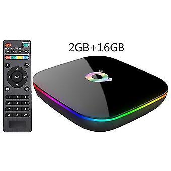 Q plus Smart-TV-Box und Roid 9.0 TV-Box 4gb ra m 32gb rom 2.4g Wifi Set-Top-Box (A)