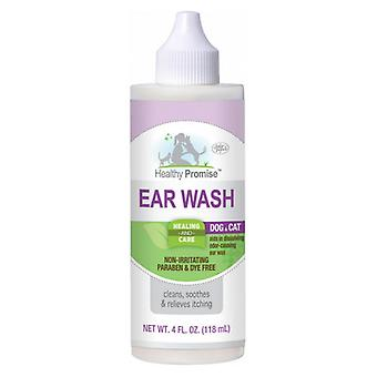 Four Paws Healthy Promise Dog and Cat Ear Wash - 4 oz
