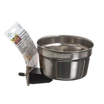 Lixit Radical Steel Metal Cage Crock Bowl for Small Animals & Birds - 20 oz