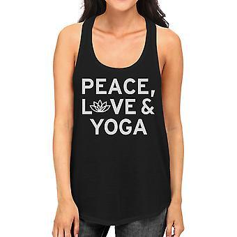 السلام الحب اليوغا أعلى الدبابة اليوغا العمل إلى أعلى خزان اليوغا لطيف راسيرباك