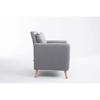 Nojatuoli - Nojatuolit - Moderni harmaa puu 73 cm x 68 cm x 83 cm