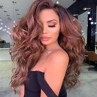 Women Daily Long Curly Wavy Hair Wigs Party Synthetic Wig