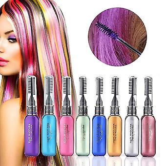 8 Piece set of hair chalk temporary coloring combs