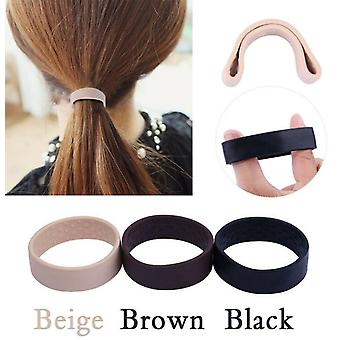 3pcs Foldable One Wide Pony Band Clip Large Pony Hair Band O Hair Tie Band