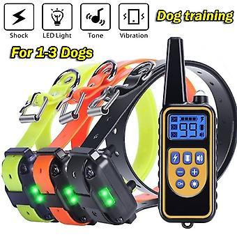 1000m huisdier hond elektrische schok training kraag ip7 diepte waterdichte afstandsbediening hond apparaat anti blaffen apparaat