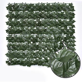 Imitazione piante Schermo di recinzione per privacy artificiale, recinzione per siepi artificiali e decorazione finta per la decorazione del giardino all'aperto 1m X 1m, Leav di patate dolci