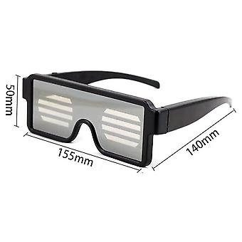 Led Visor Glasses Luminous Led Light Up Visor Eyeglasses Usb Rechargeable Dj Party Neon Party