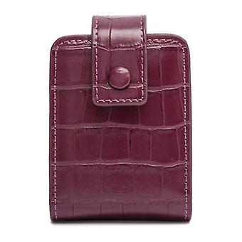 Women's Mirror Cosmetic Bag, Crocodile Print Travel Makeup Bag, Pu Mini Toalettarrangör, Förvaring