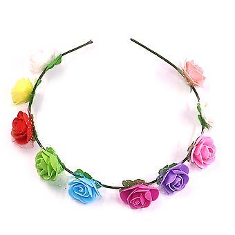 Haarkrans Haarband Multicolor Flower Crown Festival Party Hoofddeksels
