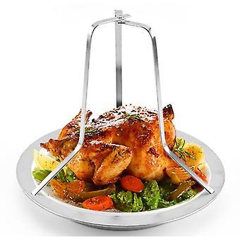 Stainless Steel Roast Chicken Pan Non Stick Chicken Rack Baking Chicken Pan Kitchen