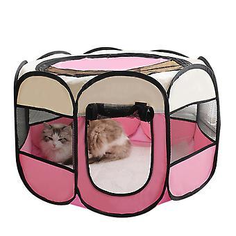 Портативный складной манеж для домашних животных, водонепроницаемый устойчивый к царапинам палатка для собак / кошек / кроликов Внутреннее использование