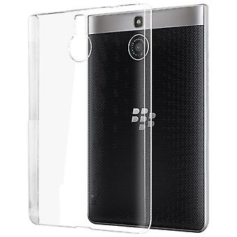 InventCase TPU Gel Case met screenprotector voor BlackBerry Passport Silver Edition - Clear