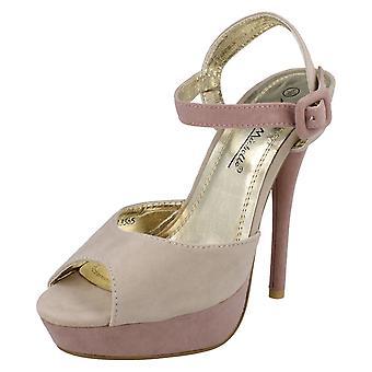 Ladies Anne Michelle Peep Toe Platform Heels L3365