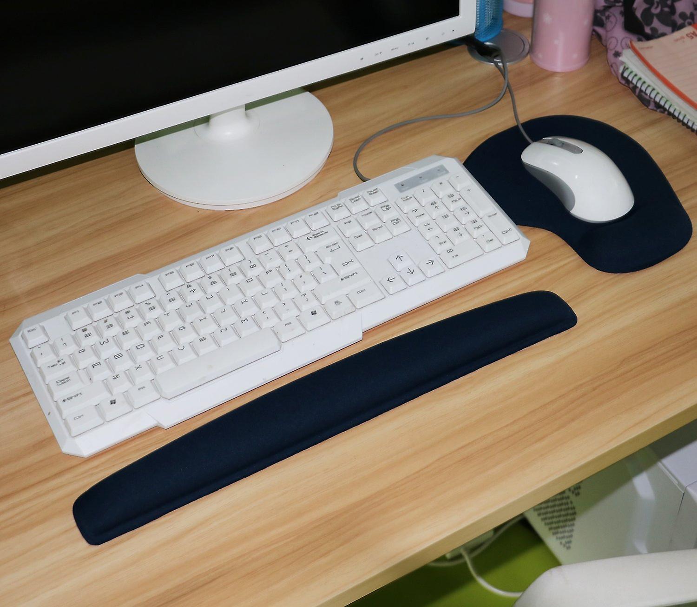 TRIXES Gel blu Comfort PC supporto per il polso e Mouse Pad