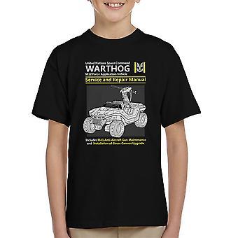 Halo Warthog Service And Repair Manual Kid's T-Shirt