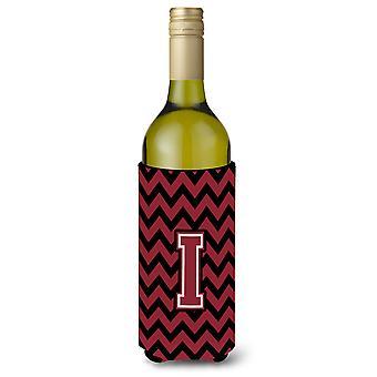 حرف I العقيق شيفرون والأسود النبيذ زجاجة المشروبات عازل نعالها
