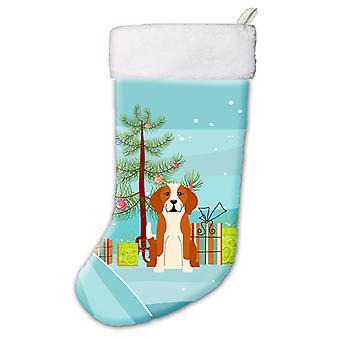 Merry Christmas Tree English Foxhound Christmas Stocking