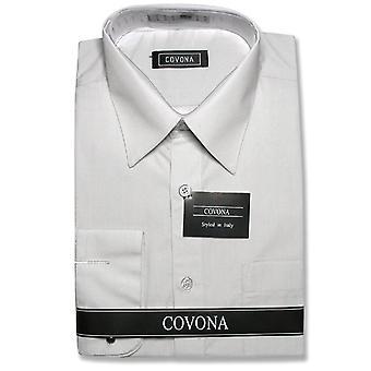 Men's Solid Dress Shirt w/ Convertible Cuffs
