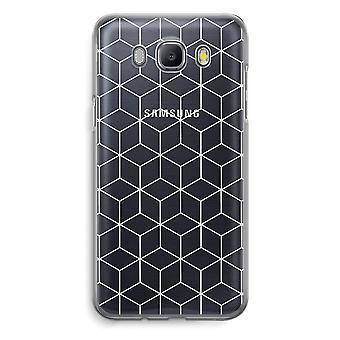 Samsung Galaxy J5 (2016) Transparent Case (Soft) - Cubes black and white