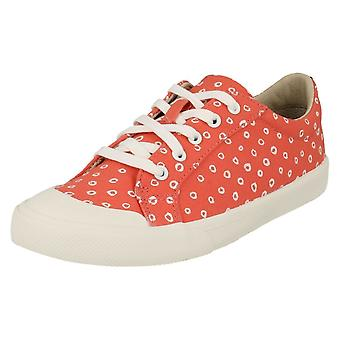 Girls Clarks Casual Canvas Shoes Comic Days