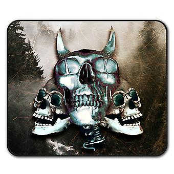 Devil Metal Scream Skull  Non-Slip Mouse Mat Pad 24cm x 20cm | Wellcoda