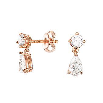 ESPRIT kvinnors örhängen silver Rosé cubic zirconia Solitaire ESER92688B000