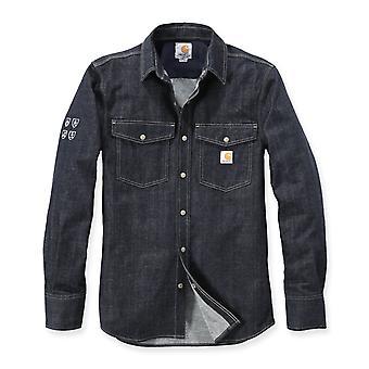 Carhartt men's long-sleeve shirt protective denim