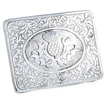 Celtic Thistle Pewter Belt Buckle