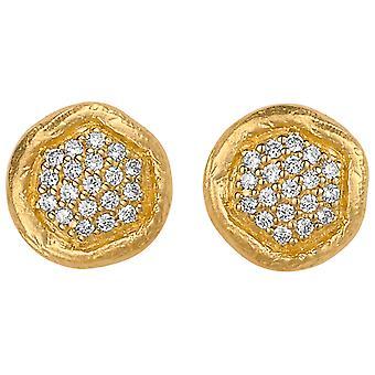 Orphelia Silver 925 Earring zirkonium goud ZO-5235/1