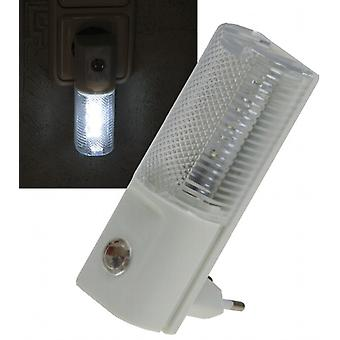 LED night light with day/night sensor 230 v, with white LEDs, only 1W