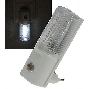 Veilleuse LED avec capteur jour/nuit 230 v, avec LED blanches, seulement 1W