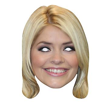 Holly Willoughby 2D Single Card Party Fancy Dress Mask