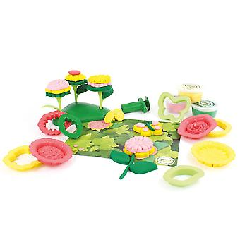 Green Toys 21 Piece Flower Maker Dough Set Doh Moulding Play Set BPA Free Eco