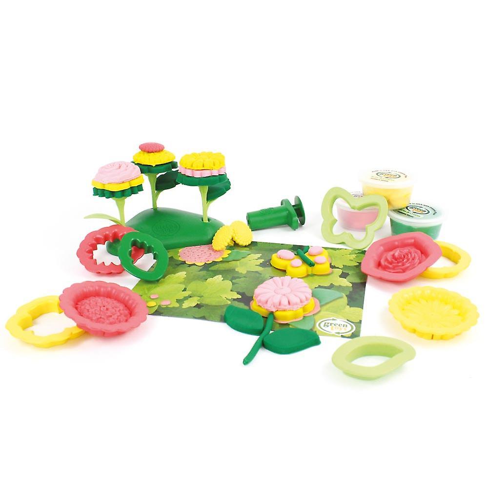 Green Toys 21 Piece Flower Maker Dough Set Doh Moulding Play Set BPA Free Eco